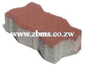 60mm red colored interlocking paver for sale harare