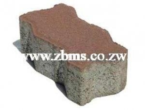 80mm red colored interlocking concrete pavers bricks for sale in harare