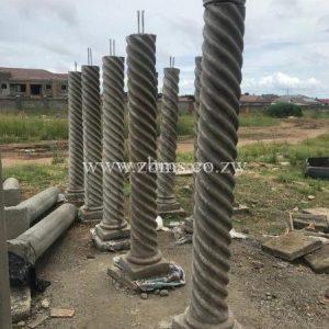 spiral verandah pillars for sale zimbabwe concrete product