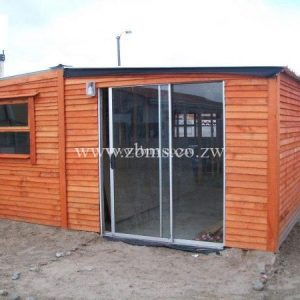 wooden cabin offices for sale with aluminum sliding door Harare Zimbabwe Building Materials Suppliers