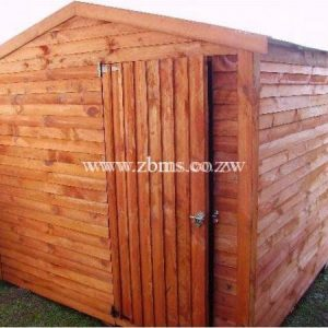 2.4m x 3.0m construction site wooden cabin builder's store room for sale harare zimbabwe