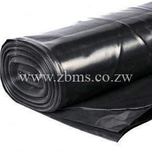 250micron by 100m by 2.4m black polythene plastic sheet for sale Zimbabwe